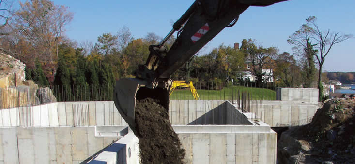 Lawton Adams Construction Corp. supplies top soil & fill used in site work.